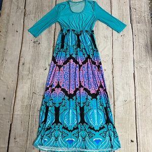 Damask Long Sleeve Dress